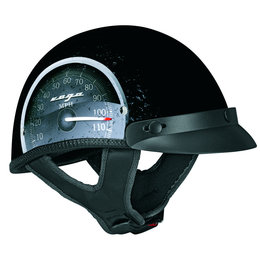 Black Vega Mens Xta Speedo Half Helmet 2013