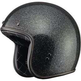 Fly Racing .38 Metal Flake Open Face Helmet Black