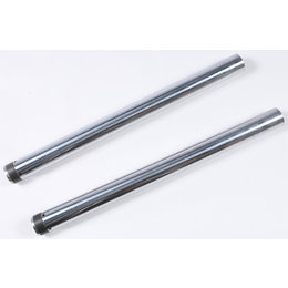 HardDrive Standard Length 25-1/2 Inch Fork Tube Only 49mm Pair For Harley 094621 Silver