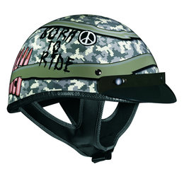 Green Vega Mens Xta Born To Ride Half Helmet 2013
