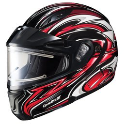 HJC CL-Max II 2 Atomic Electric Shield Modular Snowmobile Helmet Red