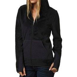 Fox Racing Womens Sleet Lush Zip Up Hoody Sweatshirt Black