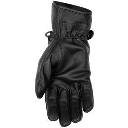 Black Brand Womens Crystal Leather Gloves Black