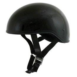 Black Afx Mens Fx-200 Fx200 Slick Naked Half Helmet