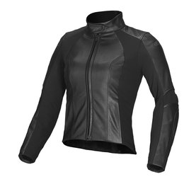 Black Alpinestars Womens Stella Vika Leather Jacket 2014 Eu 38