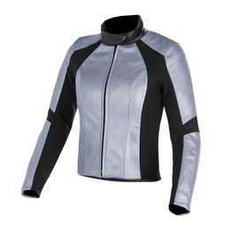 Frozen Blue Metallic Alpinestars Womens Stella Vika Leather Jacket 2014 Eu 38