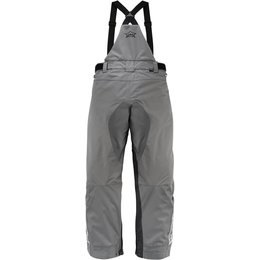 Icon Mens Raiden DKR Monochromatic Waterproof Armored Textile Bib Riding Pants Grey