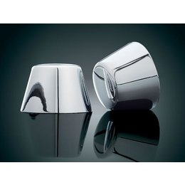 Kuryakyn Axle Nut Covers Chrome For Harley FX FLH FLT VRod Silver