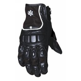 Black Joe Rocket Womens Leather Cleo Gloves