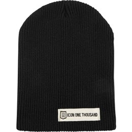 Icon Mens 1000 Collection Inline Beanie Hat Black