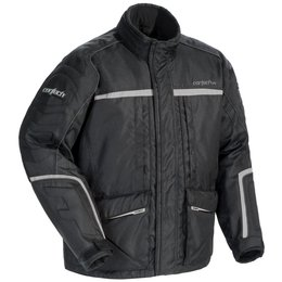 Black, Silver Cortech Mens Cascade 2.1 Snow Jacket 2014 Black Silver