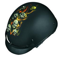 Black Vega Mens Xta Tortured Souls Half Helmet 2013