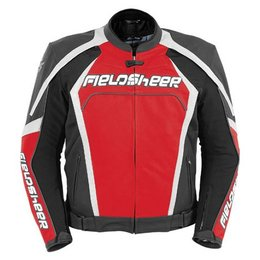 Red Fieldsheer Razor 2.0 Leather Jacket Black
