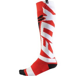 Fox Racing Mens Coolmax Shiv Thick Riding Socks Pair Red
