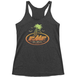 FMF Womens Captain Quint Sleeveless Racerback Tank Top Black
