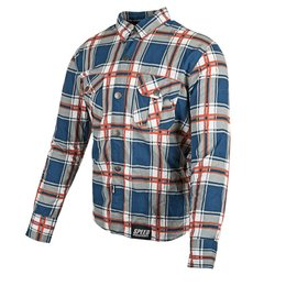 Speed & Strength Mens Rust And Redemption Long Sleeve Armored Moto Shirt Blue