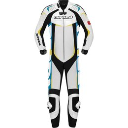 Spidi Sport Mens Track Wind Pro 1 Piece Leather Suit White