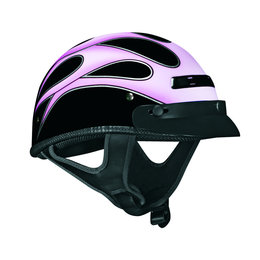Pink Vega Womens Xts Flames And Glitter Half Helmet 2013