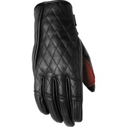 RSD Womens Riot Quilted Leather Riding Gloves Black