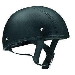 Black Vega Mens Xts Naked Leather Half Helmet 2013