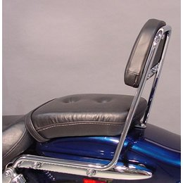 MC Enterprises Sissy Bar With Studded Pad Chrome For Suzuki GZ250 1999-2012