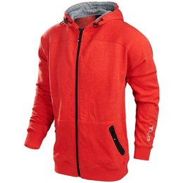 Troy Lee Designs Mens Rebound Cotton Polyester Fleece Zip Up Hoodie Red