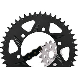 Vortex Sprocket/Chain Kit With Aluminum Rear Sprocket For Honda CBR600F4i CK2231 Black