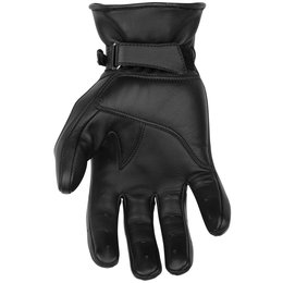 Black Brand Mens Pinstripe Deer Skin Leather Gloves Black