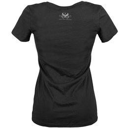 Speed & Strength Womens Black Heart Deep V-Neck Graphic T-Shirt Black