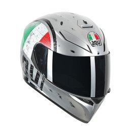 AGV K-3 SV Scudetto Full Face Helmet Silver