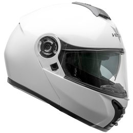 Vega VR1 VR-1 Solid Modular Motorcycle Riding Helmet With Flip-Up Chin Bar White