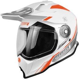 Just1 J14 J-14 DS Line Dual Sport Adventure Helmet White
