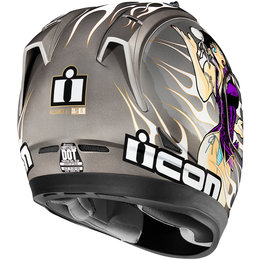 Icon Alliance GT DL18 Full Face Helmet Silver