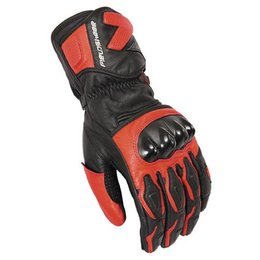 Red Fieldsheer Apex 2.0 Leather Gloves Black
