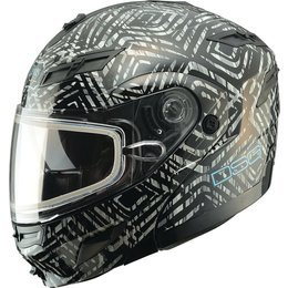 GMAX Womens DSG GM54S Aztec Modular Snow Helmet With Dual Pane Shield/LED Light Black