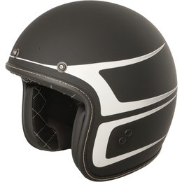 Fly Racing .38 Scallop Open Face Helmet Black
