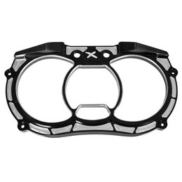 Modquad UTV Dash Gauge Bezel Billet For Can-Am Anodized Black CA-BEZ-X3-BLK Black