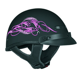 Pink Vega Womens Xts Scroll Half Helmet 2013