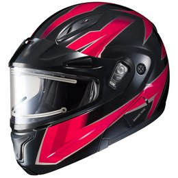 HJC CL-Max II 2 Ridge Electric Shield Modular Snowmobile Helmet Red