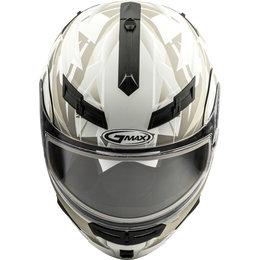 GMAX GM54S GM-54S Scribe Modular Snowmobile Helmet With Dual Pane Shield White