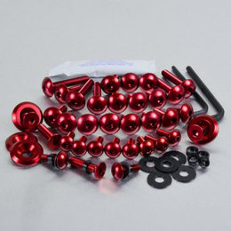 Pro-Bolt Aluminum Bolt Kit For Fairing 25 Piece Red For Honda CBR1000RR 08-13 Red