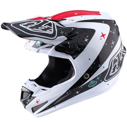 Troy Lee Designs SE4 Carbon Twilight DOT ECE SNELL MX Motocross Offroad Helmet White
