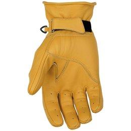 Black Brand Mens Pinstripe Deer Skin Leather Gloves Brown