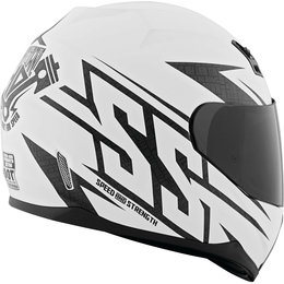 Speed And Strength SS700 Hammer Down Full Face Helmet LS White