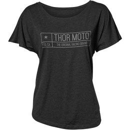 Thor Womens Establish Scoop Neck Cotton T-Shirt Black