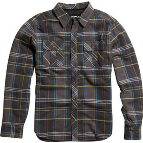 Fox racing clancy sherpa lined long sleeve flannel for Sherpa lined flannel shirt