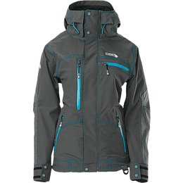 Divas Womens Avid Polartec NeoShell Snowmobile Jacket Grey