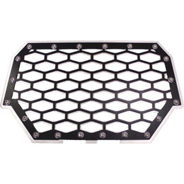 Modquad UTV 2 Panel Front Grill Aluminum For Polaris Black Silver RZR-FG2-BLK Black
