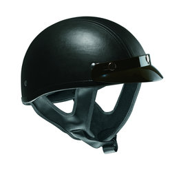Black Vega Mens Xts Leather Half Helmet 2013