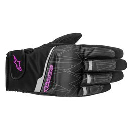 Black Alpinestars Womens Stella Haku Softshell Textile Gloves 2015